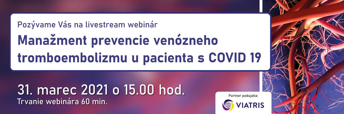 Manažment prevencie venózneho tromboembolizmu u pacienta s COVID 19